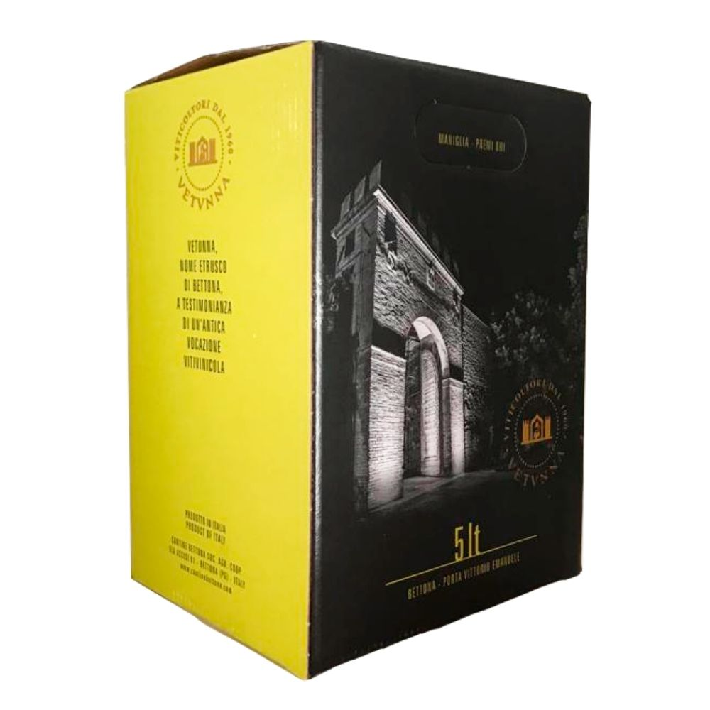 Vino Bianco Cantine Bettona Bag in Box 5 litri Fronte