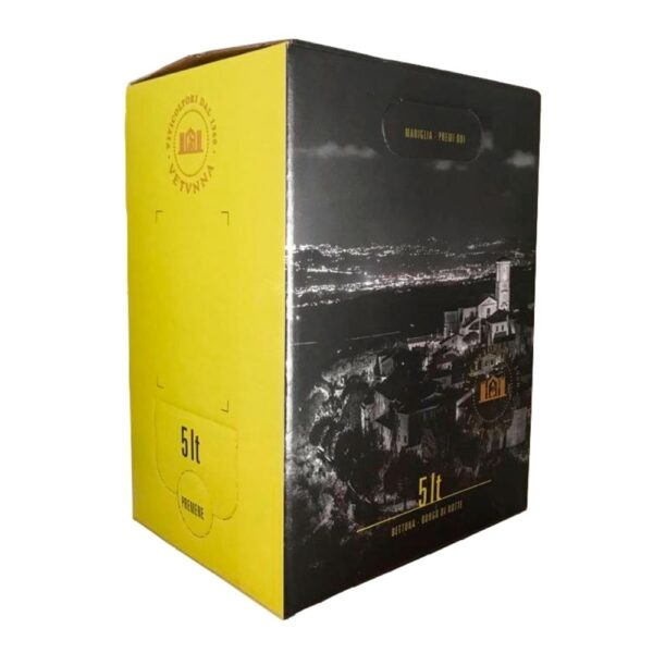 Vino Bianco Cantine Bettona Bag in Box 5 litri Retro